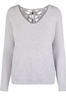 Ladies Back Lace Up Sweater Mila