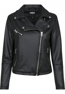 Ladies Faux Leather Biker Jacket Sonya
