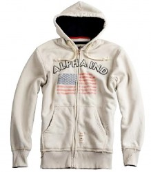 Alpha Industries Flag Zip Hoody