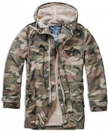 Army military jacket with hood BW Parka